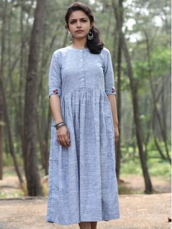 Tie N Dye Grey Midi Dress