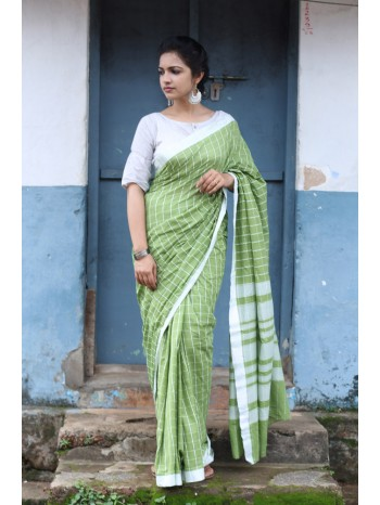 Green Gabble Voil Saree